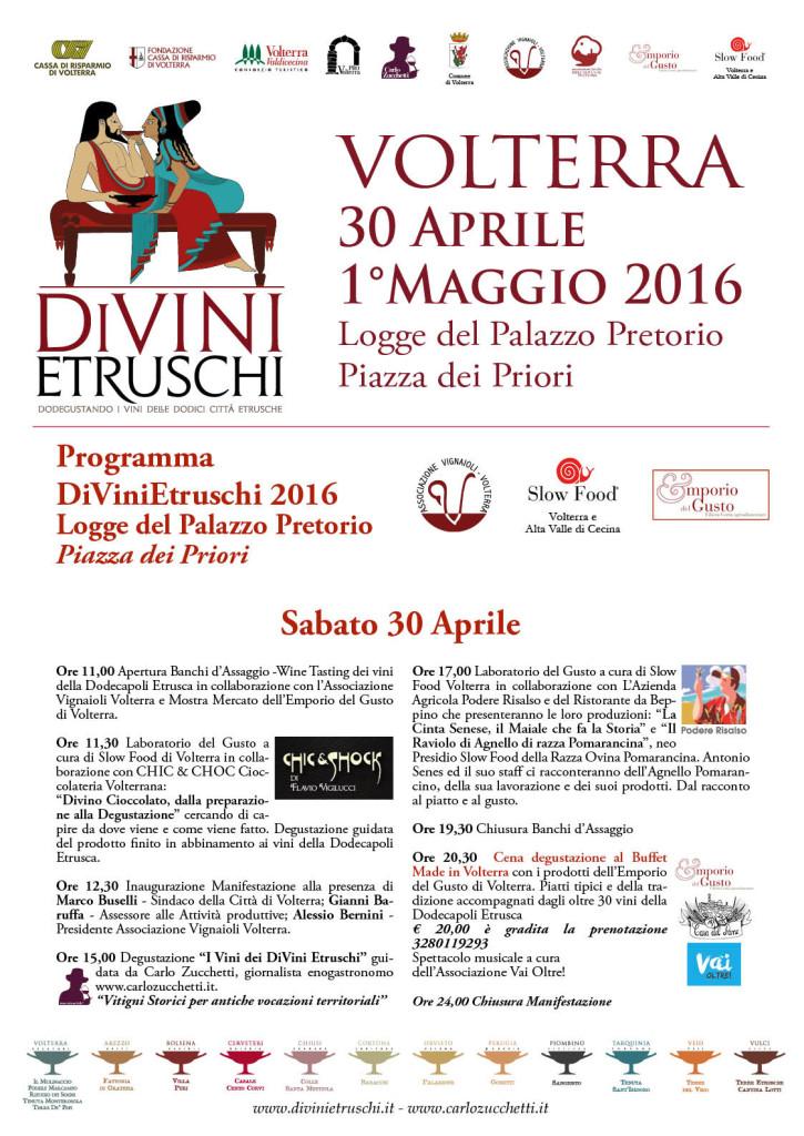 2016 DiVini Etruschi Programma 30 aprile
