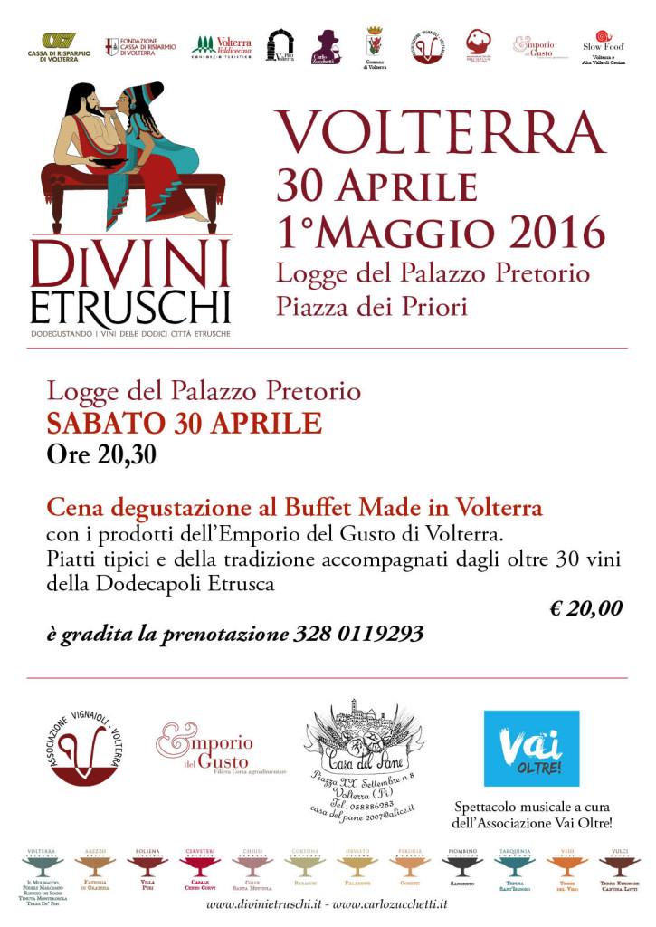 2016 DiVini Etruschi Locandina Made in Volterra