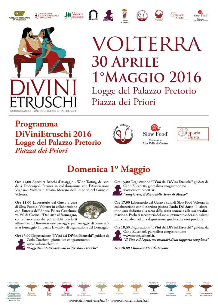 2016 DiVini Etruschi Programma 1 maggio